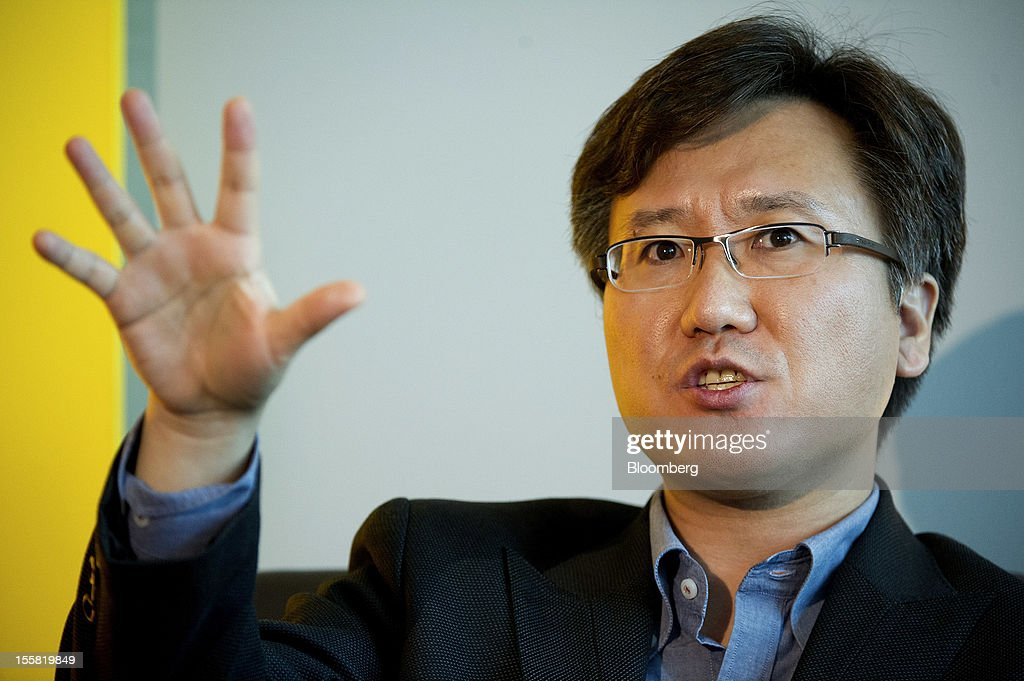 Yongseok Jang, vice president of LG Electronics Inc., speaks during the Open Mobile Summit & Appcelerate conference as in San Francisco, California, U.S., on Thursday, Nov. 8, 2012. The Open Mobile Summit, now in its fifth year, brings together the most influential and innovative in the mobile industry to provide a vision of the new ecosystem. Appcelerate returns for the third year joining together app developers to share the secrets of their success. Photographer: David Paul Morris/Bloomberg via Getty Images