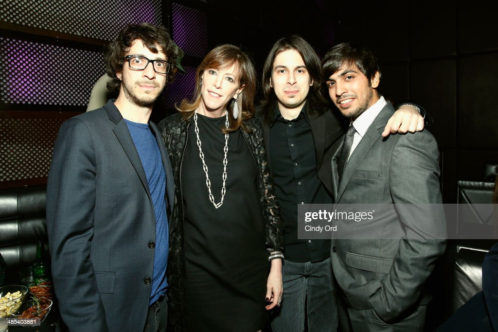 Yoni Bloch Jane Rosenthal Máté Szabó and Mohit Israney attend the Lincoln Music Event Interlude during the 2014 Tribeca Film Festival at Brookfield...