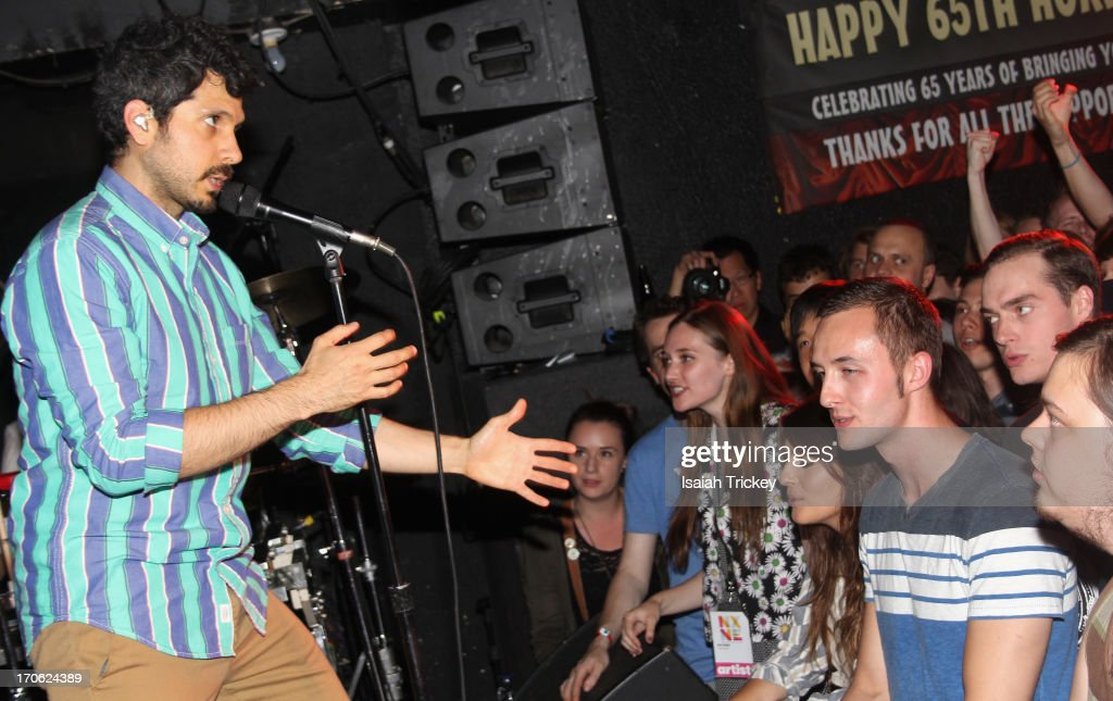 Yoni Wolf and Why perform at the Horseshoe Tavern as part of the NXNE Music Festival on June 14 2013 in Toronto Canada