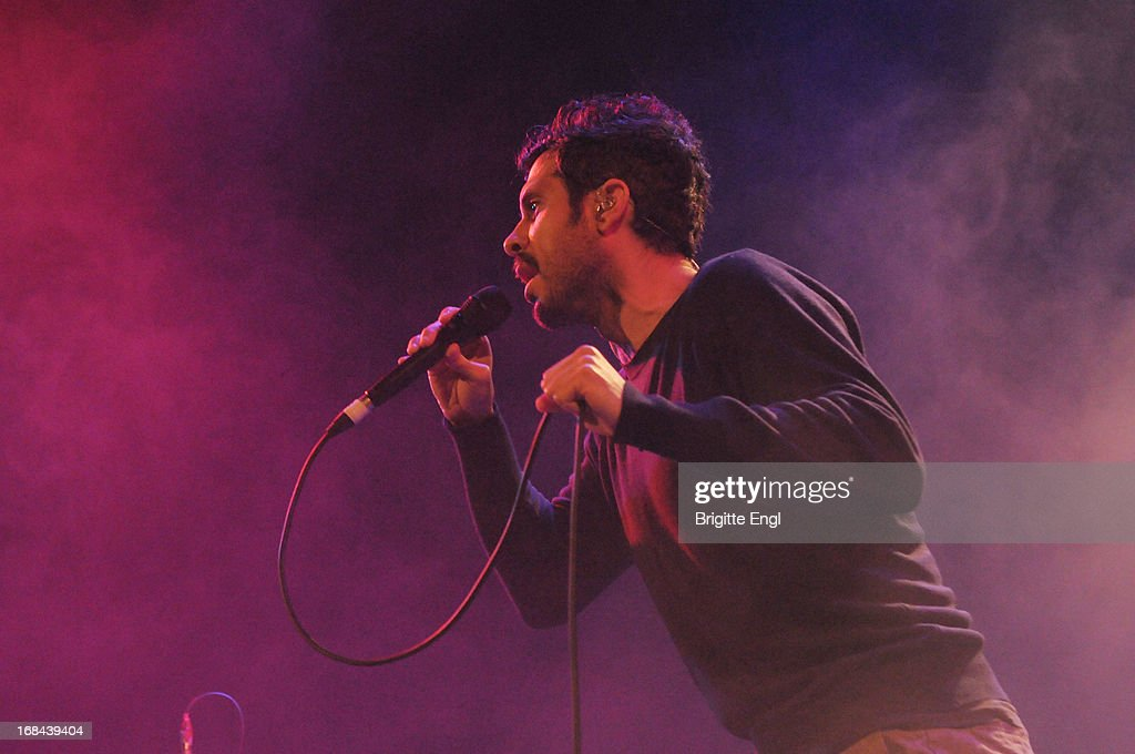 Yoni Wolf of Why perform on stage at Islington Assembly Hall on May 9 2013 in London England