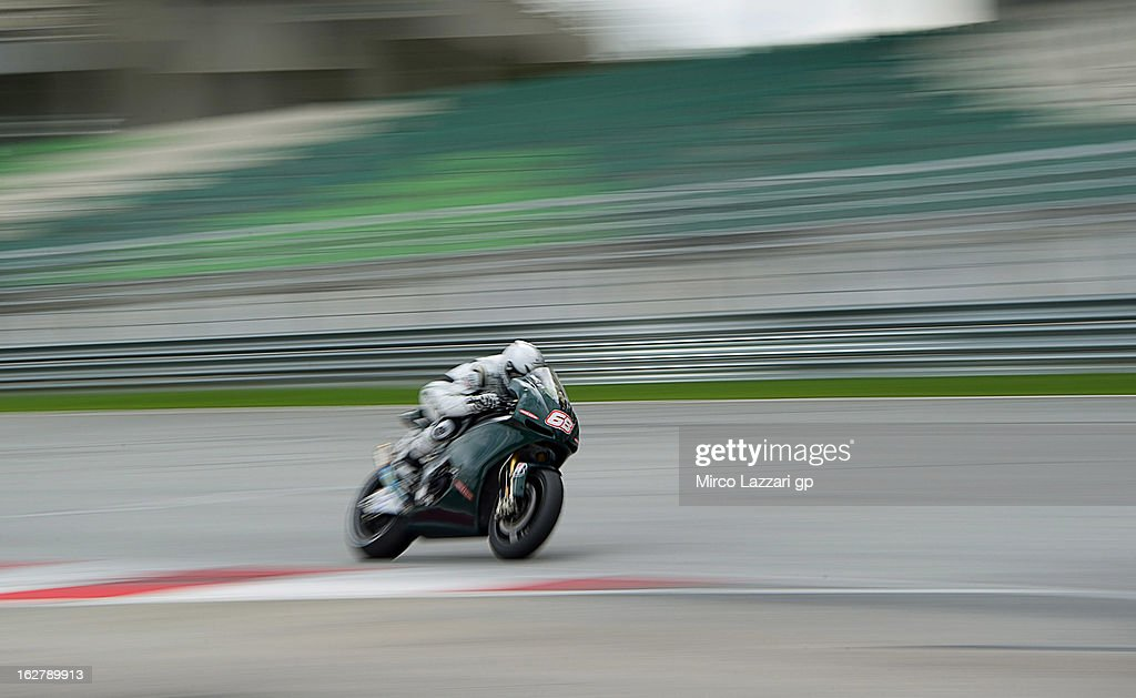 Yonny Hernandez of Colombia and Paul Bird Motorsport heads down a straight during the MotoGP Tests in Sepang - Day Two at Sepang Circuit on February 27, 2013 in Kuala Lumpur, Malaysia.