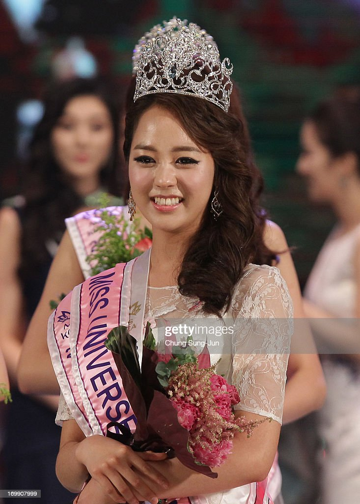 Yoo Ye-Bin 21, poses after winning the 2013 Miss Korea Beauty Pageant at Sejong Center on June 4, 2013 in Seoul, South Korea.