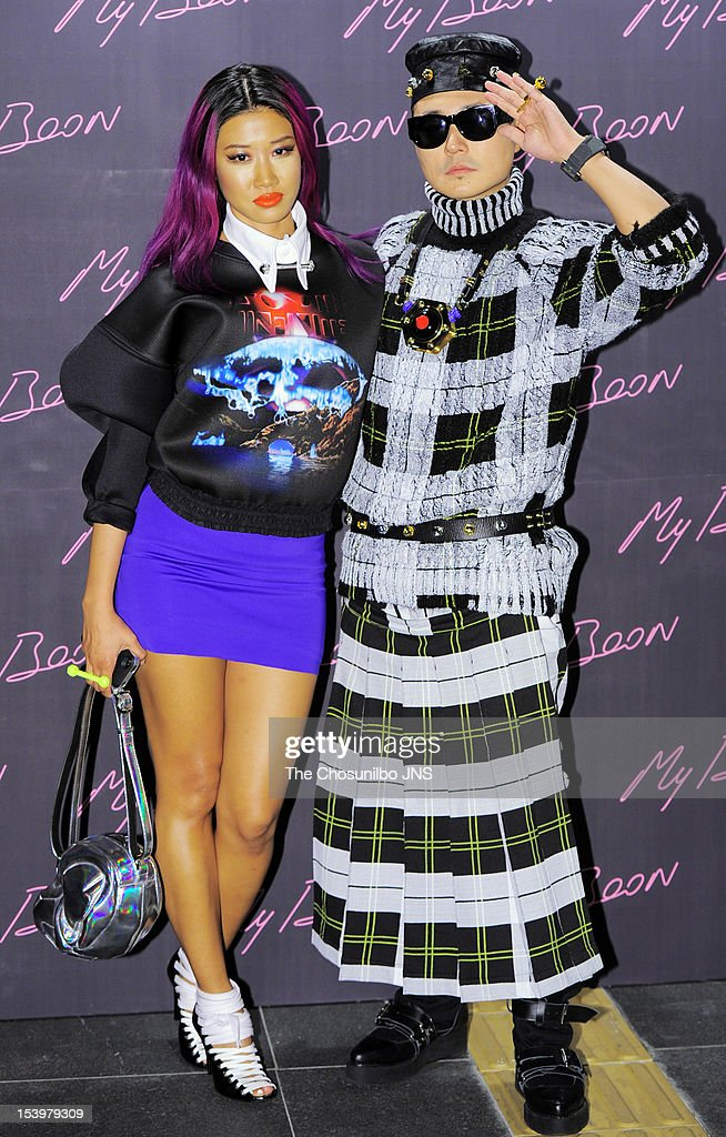 Yoon and Verval of mflo attend the 'AMBUSH' collaboration with GDragon of Bigbang on September 20 2012 in Seoul South Korea