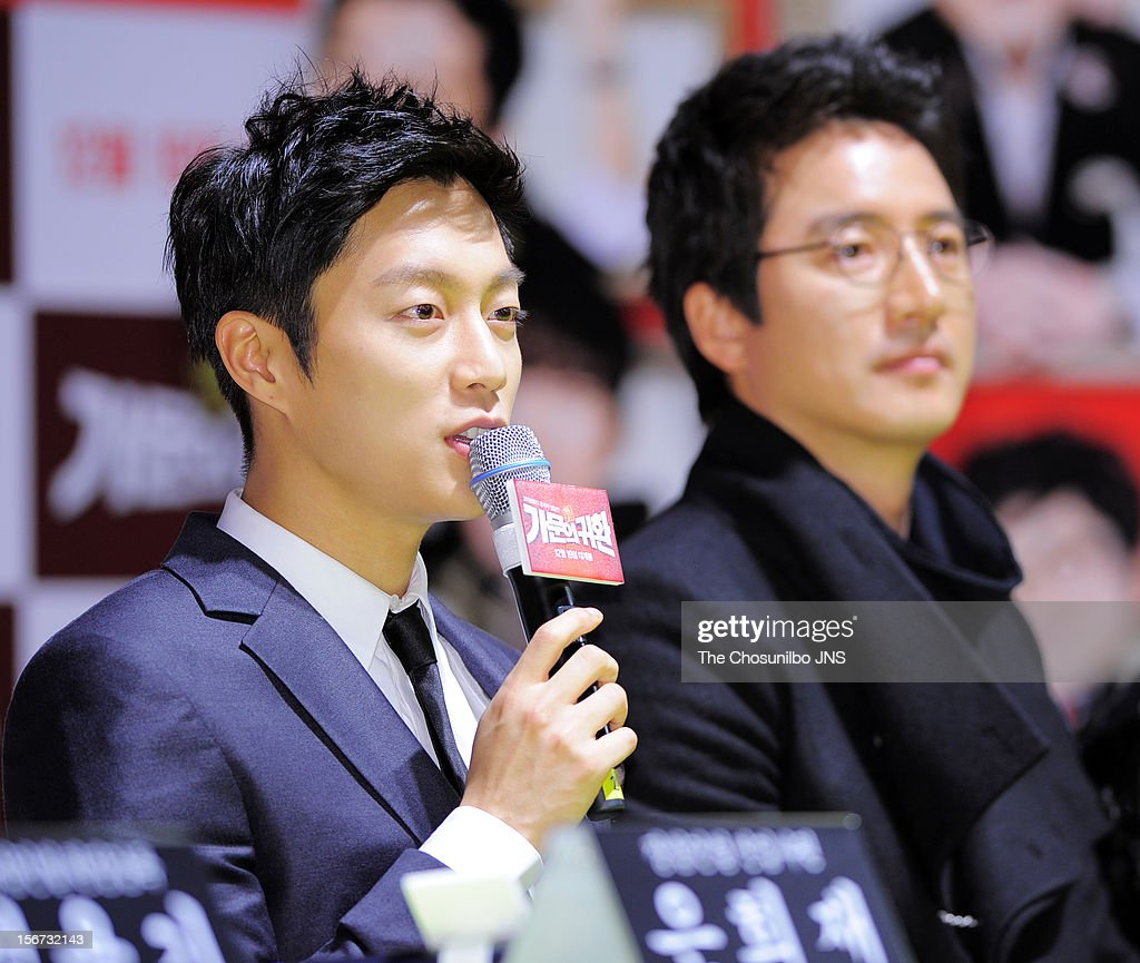 Yoon Du-Jun attends the 'Return Of The Family' press conference at KonKuk University on November 19, 2012 in Seoul, South Korea.