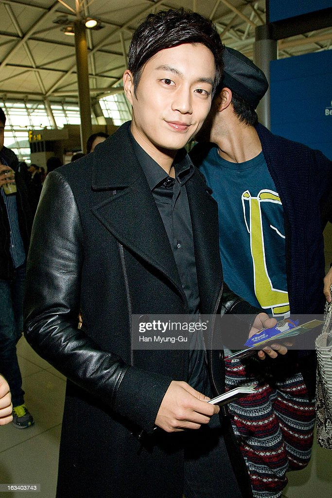 Yoon Du-Jun of South Korean boy band Beast is seen on departure at Incheon International Airport on March 8, 2013 in Incheon, South Korea.