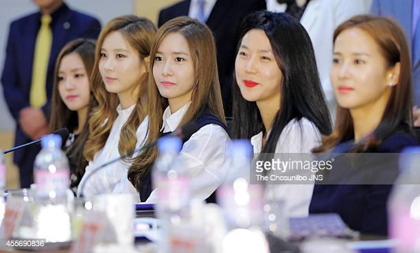 YoonA of Girls' Generation is nominated as ambassador for Dongguk university on September 17 2014 in Seoul South Korea