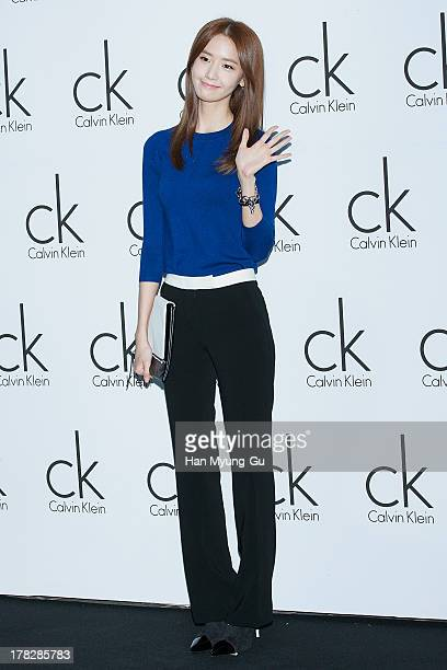 Yoona of South Korean girl group Girls' Generation attends during the Calvin Klein 2013 F/W Live Model Presentation at ck Calvin Klein Gangnam Store...