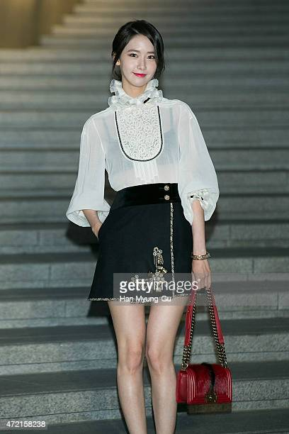 Yoona of South Korean girl group Girls' Generation attends the Chanel 2015/16 Cruise Collection show on May 4 2015 in Seoul South Korea