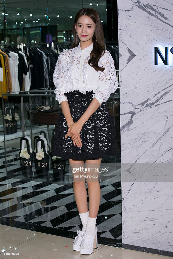 Yoona of South Korean girl group Girls' Generation attends the photocall for N21 opening at Hyundai Department Store on March 25 2016 in Seoul South...