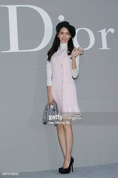 Yoona of South Korean girl group Girls' Generation attends the photocall for Dior Colors on July 15 2016 in Seoul South Korea