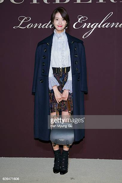 Yoona of South Korean girl group Girls' Generation attends the photocall for BURBERRY 160th Anniversary at the Burberry Seoul Flagship store on...