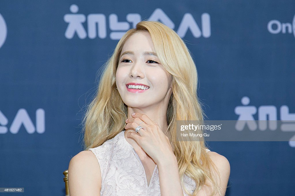 Yoona of South Korean girl group Girls' Generation attends the OnStyle 'Channel SNSD' Press Conference at Imperial Palace Hotel on July 21, 2015 in Seoul, South Korea. The program will open on July 21, in South Korea.
