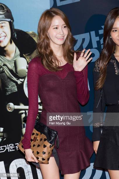 Yoona of South Korean girl group Girls' Generation attends 'Tough As Iron' VIP screening at the CGV on September 30 2013 in Seoul South Korea The...
