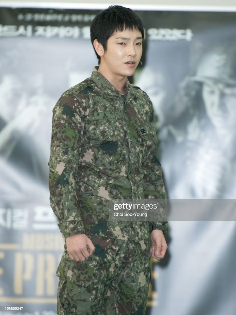 Yoon-Hak of Supernova performs during the musical 'The Promise' rehearsal at Wooriarthall on December 27, 2012 in Seoul, South Korea.