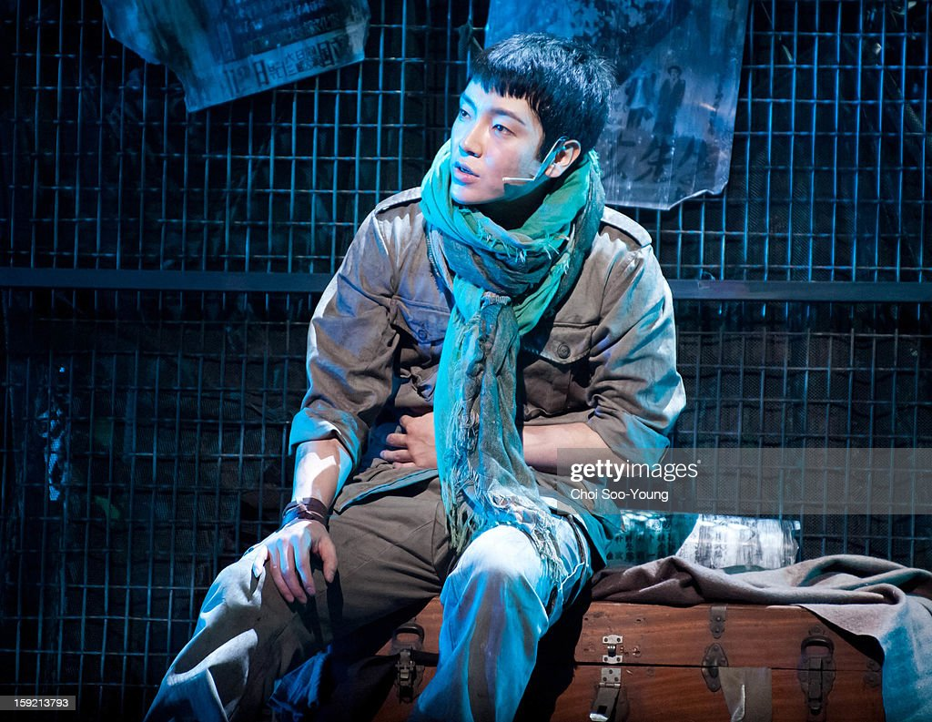 Yoon-Hak of Supernova performs during the musical 'The Promise' press call at the National Theater of Korea Main Hall 'Hae' on January 8, 2013 in Seoul, South Korea.