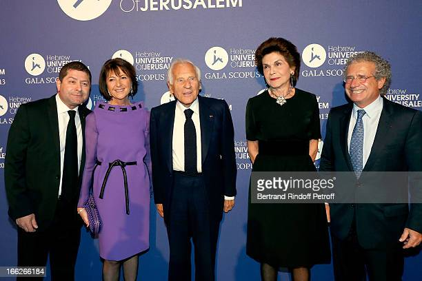 Yoram Cohen Laureat 2013 Jean d'Ormesson and wife between President UHJ Martine Dassault and husband Laurent Dassault attend 'Scopus Awards 2013'...