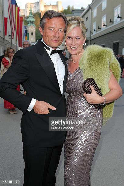 Yorck Otto and his girlfriend Alexandra Albrecht attend the opening of the easter festival 2014 on April 12 2014 in Salzburg Austria