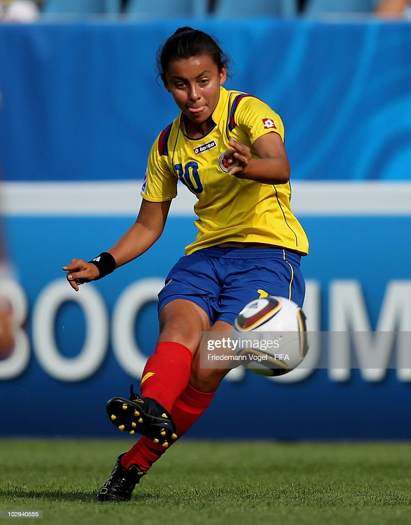 Yorely Rincon of Colombia in action during the FIFA U20 Women's Worldd Cup Group A match between Germany and Colombia at the FIFA U-20 Women's World Cup stadium on July 16, 2010 in Bochum, Germany.