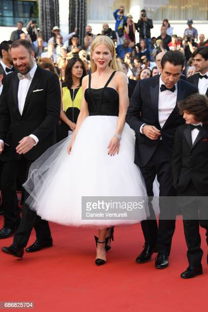 Yorgos Lanthimos Nicole Kidman Colin Farell and Sunny Suljic attend the 'The Killing Of A Sacred Deer' screening during the 70th annual Cannes Film...