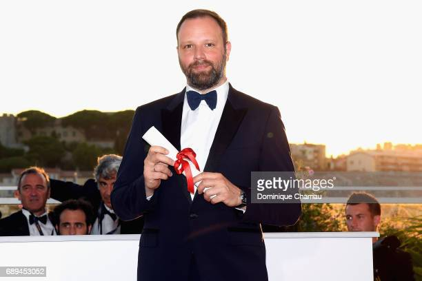 Yorgos Lanthimos winner of the award for Best Screenplay for the movie 'The Killing of a Sacred Deer' attends the Palme D'Or Winner Photocall during...