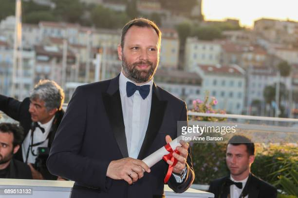 Yorgos Lanthimos winner of the award for Best Screenplay for the movie 'The Killing of a Sacred Deer' attends the winners photocall during the 70th...