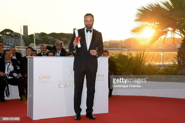 Yorgos Lanthimos winner of the award for Best Screenplay for the movie 'You Were Never Really Here' attends the Palme D'Or Winner Photocall during...
