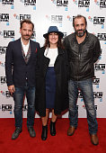 Yorgos Pirpassopoulos Athina Rachel and Panos Koronis attend the 'Chevalier' screening during the BFI London Film Festival at Vue Leicester Square on...
