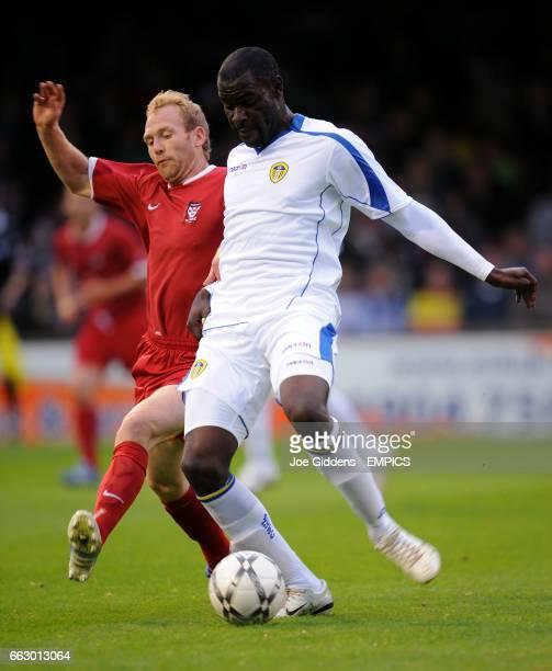 York City's Simon Rusk and Leeds United's Enoch Showumni