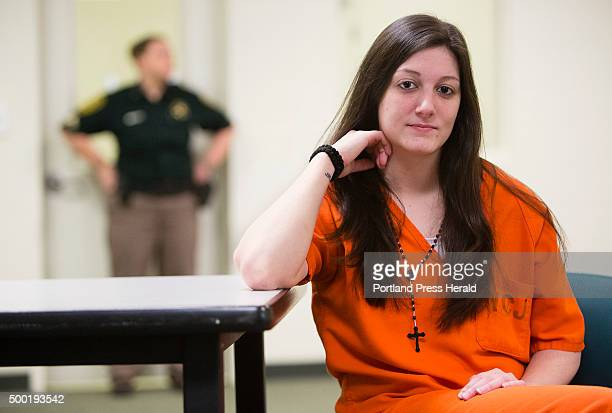 York County Jail inmate Marissa Viera who almost died after taking some fentanyl laced heroin during the summer at the Alfred jail sits in one of the...