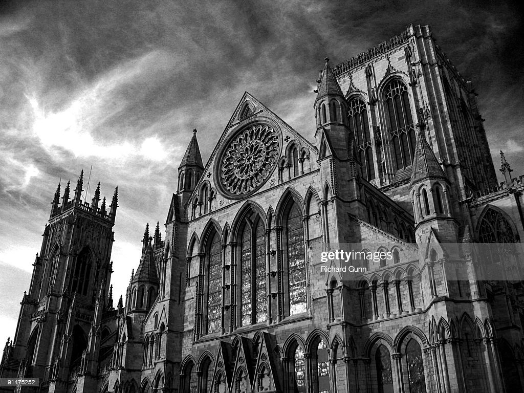York minster and rose window stock photo getty images for Rose window york minster