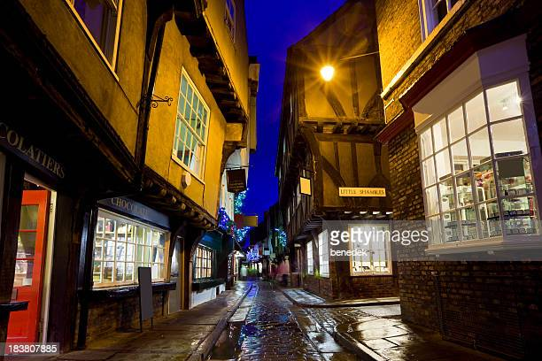 York North Yorkshire England UK Old Town Shambles Street