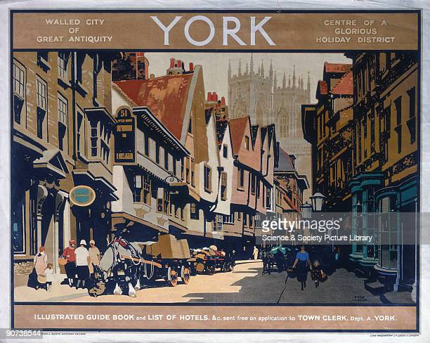 �York Walled City of Antiquity Centre of a Glorious Holiday District' Poster produced for London North Eastern Railway to promote rail travel to the...