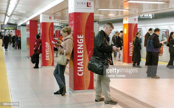 May 3 2004York University signage takes over Toronto's St George subway station Monday morning May 3 in part of a campaign to convince Torontonians...