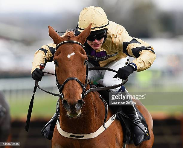 Yorkhill ridden by Paul Townend on their way to victory during the 2016 Crabbie's Grand National Steeple Chase at Aintree Racecourse on April 9 2016...