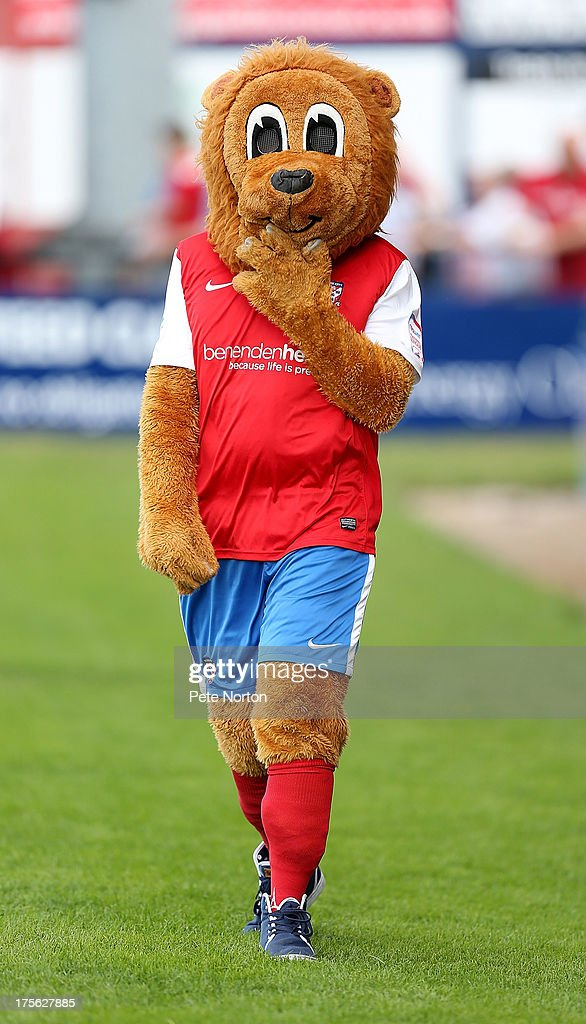 Yorkie, the York City mascot looks on prior to the Sky Bet League Two match between York City and Northampton Town at Bootham Crescent on August 3, 2013 in York, England.