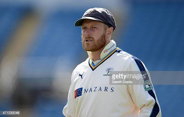 Yorkshire captain Andrew Gale during day one of the LV County Championship Division One match between Yorkshire and Warwickshire at Headingley on...