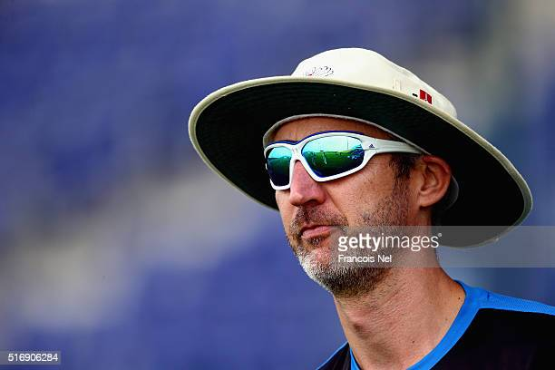Yorkshire coach Jason Gillespie looks on during day three of the Champion County match between Marylebone Cricket Club and Yorkshire at Sheikh Zayed...