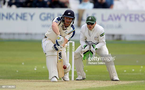 Yorkshire's Andrew Gale batting as Worcestershire's keeper Daryl Mitchell covers during day one of the LV County Championship division One match...