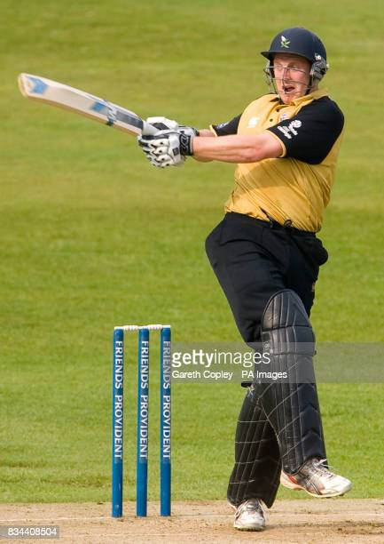 Yorkshire's Andrew Gale hits out during the Friends Provident Trophy match at Headingley Carnegie Leeds