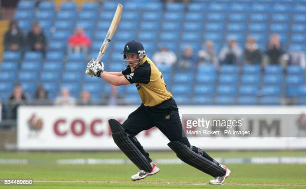 Yorkshire's Andrew Gale hits out during the Friends Provident Trophy match at Headingley Leeds