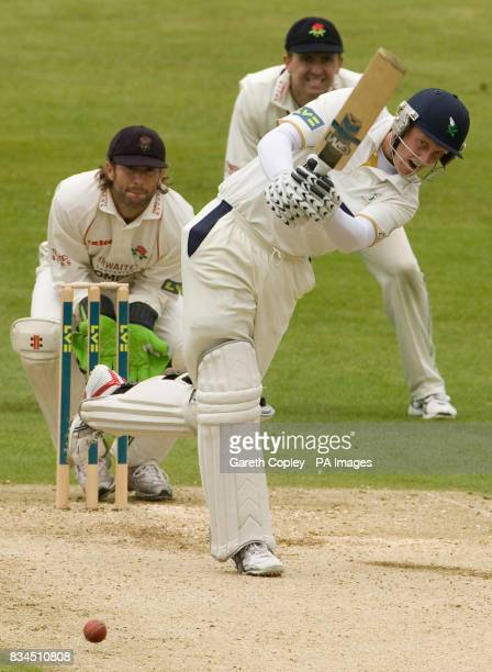 Yorkshire's Andrew Gale hits out during the LV County Championship match at Headingley Cricket Ground Leeds