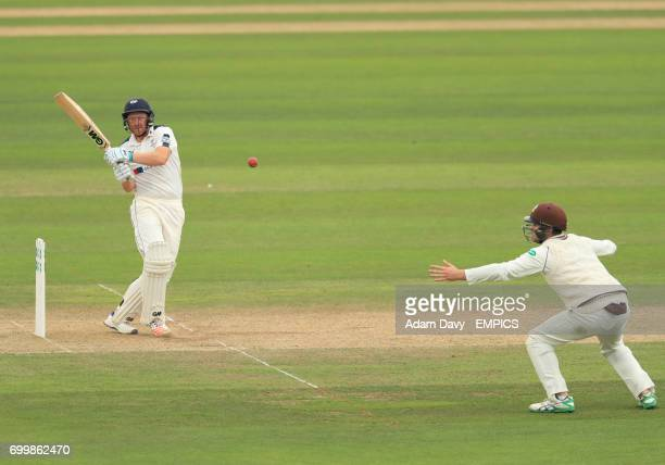 Yorkshire's Andrew Gale hits out for four runs against Surrey