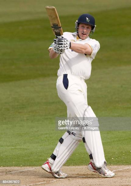 Yorkshire's Andrew Gale hits out on way to reaching 138 runs during the LV County Championship Division One match at Headingley Carnegie Leeds