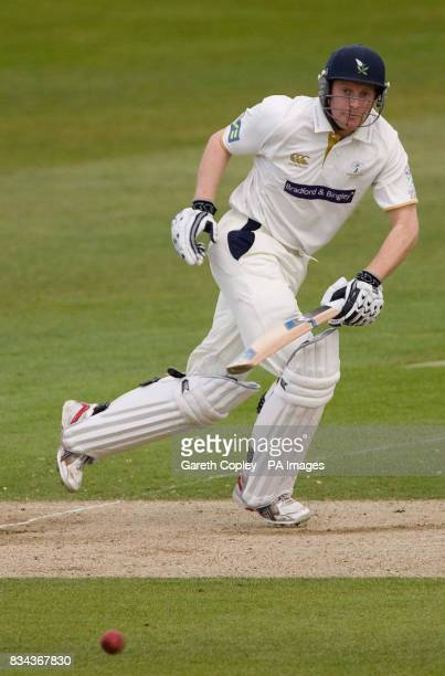Yorkshire's Andrew Gale hits out on way to reaching 138 runs during the LV County Champonship Division One match at Headingley Carnegie Leeds