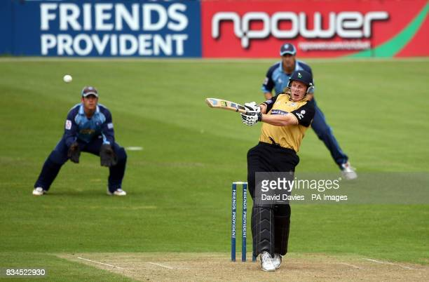Yorkshire's Andrew Gale in action against Gloucestershire