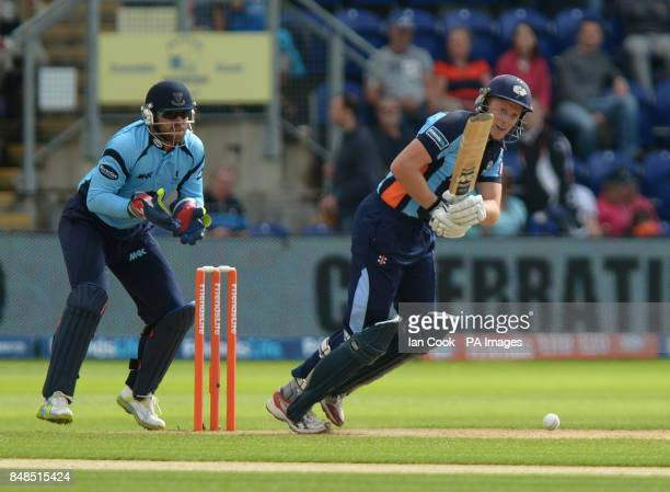 Yorkshire's Andrew Gale in action during the Friends Life T20 Semi Final match at The SWALEC Stadium Cardiff