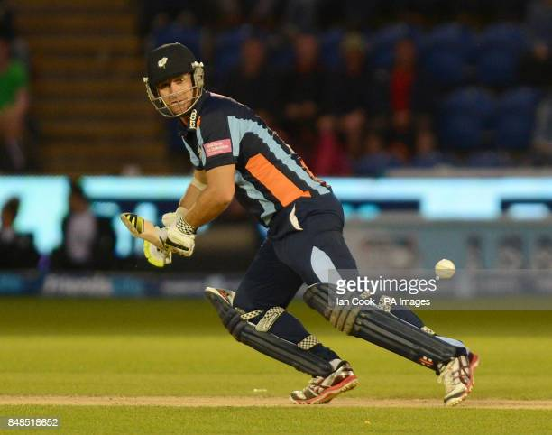 Yorkshire's Andrew Gale is in action during the Friends Life T20 Final match at The SWALEC Stadium Cardiff