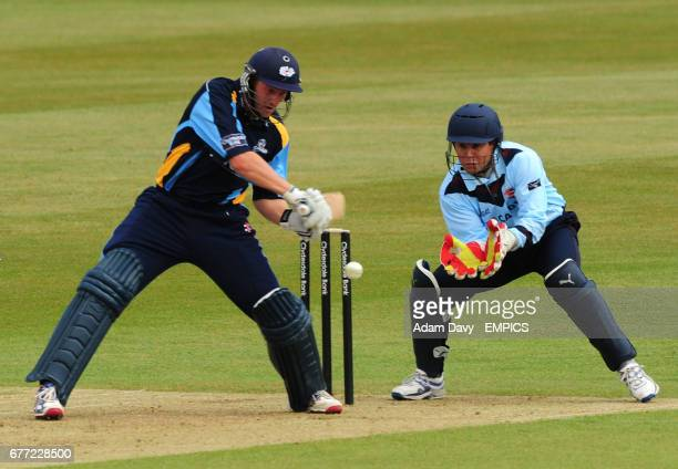 Yorkshire's Andrew Gale on his way to scoring a century