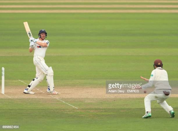 Yorkshire's Andrew Gale strikes the ball during his innings