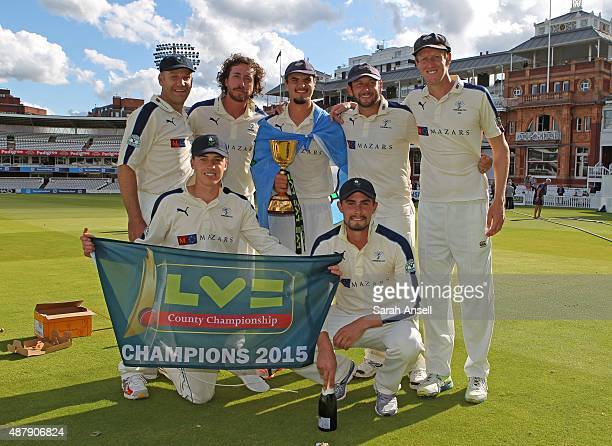 Yorkshire's bowling attack James Middlebrook Ryan Sidebottom Jack Brooks Tim Bresnan Steve Patterson Matthew Fisher and Will Rhodes with the LV...